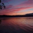 屈斜路湖の夕日