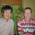 友人デニー・ボンドと2000年東京にて
